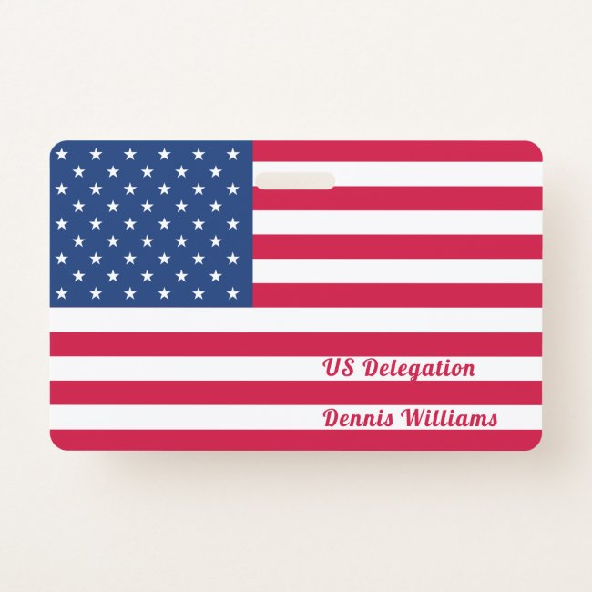 American Flag   Personalized