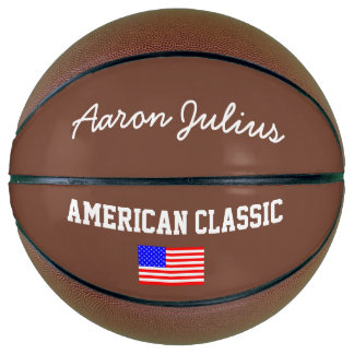 American Flag Personalized Basketball Sports Gift