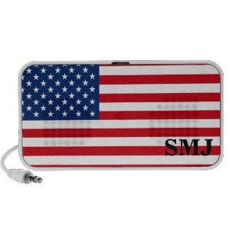 American Flag Personalized Monogram mp3 Speaker