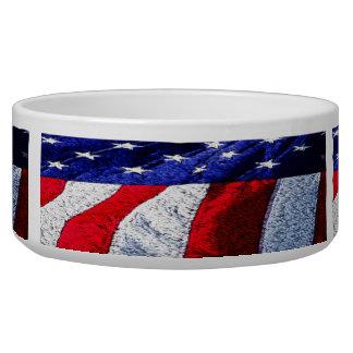 American Flag Pet Food Bowl