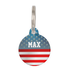 American Flag Pet ID Tag