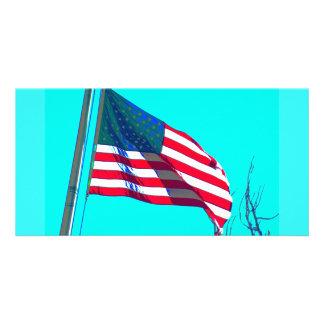 American Flag photo card
