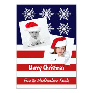 American flag photo template Christmas holiday