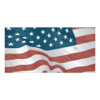American Flag Picture Card