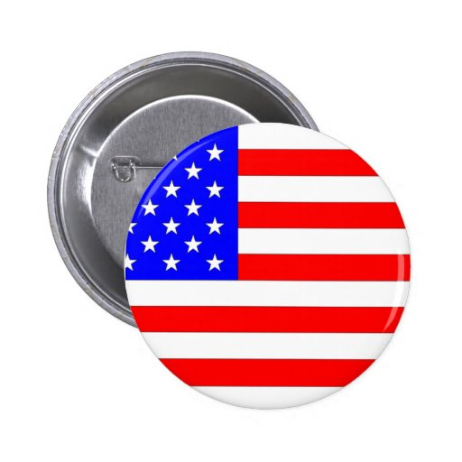 AMERICAN FLAG PINBACK BUTTON