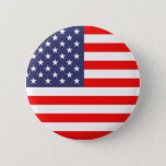 """American flag pinback buttons<br><div class=""""desc"""">American flag pinback buttons. Button with flag of America. Patriotic red white and blue design. Great gift idea for 4th of July / Independence Day. USA stars and stripes pride wear.</div>"""