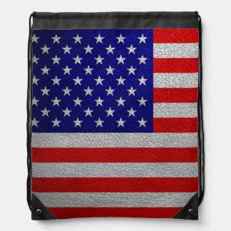 American Flag Cinch Bags
