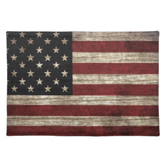 American Flag Cloth Place Mat