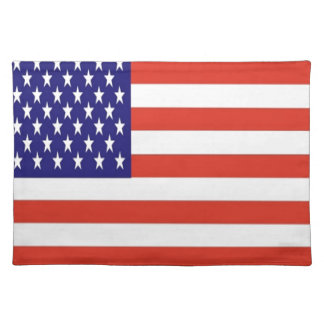American flag place mat