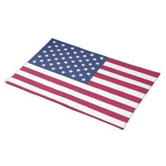 American Flag Placemat Cloth Placemat