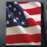 "American Flag Plaque<br><div class=""desc"">beautiful American Flag</div>"