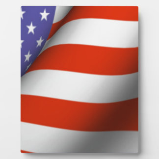 American Flag Display Plaque
