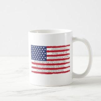 American flag Pledge Vintage Coffee Mug