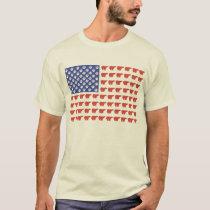 American Flag Polar Bear T-Shirt