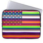American Flag Pop Art 4 Computer Sleeve