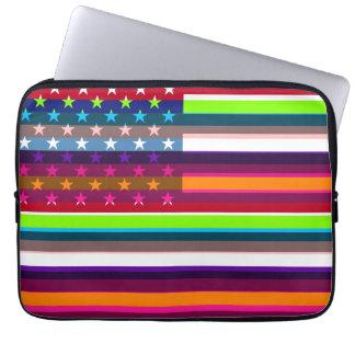 American Flag Pop Art 4 Computer Sleeves
