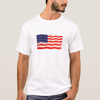 American Flag Popsicle Stick Folkart. 4th of July T-Shirt