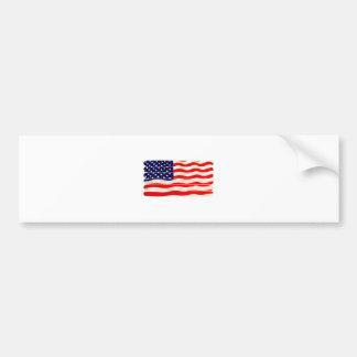 American Flag Popsicle Stick Folkart Bumper Sticker