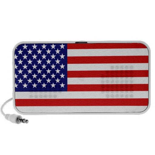American flag portable speakers
