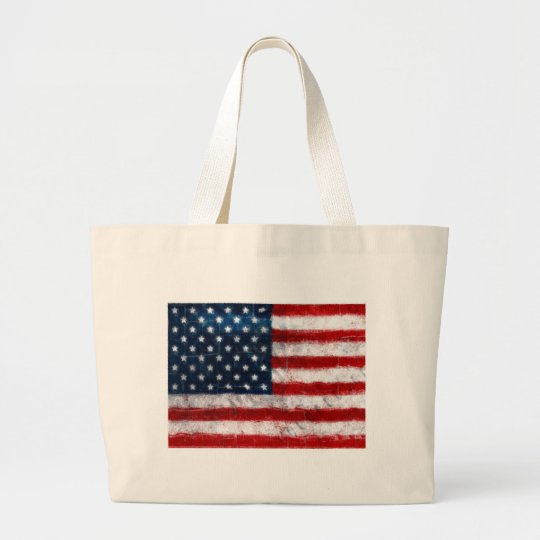 American Flag Portrait Classic Tote Bag