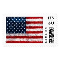 American Flag Portrait Custom Postage Stamp