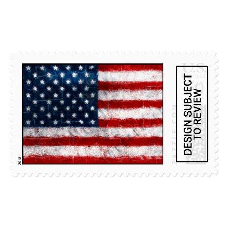 American Flag Portrait Custom Postage Stamp | 822131