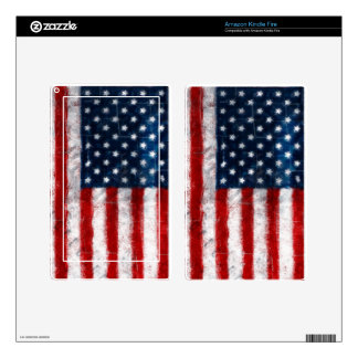 American Flag Portrait Kindle Fire Skin