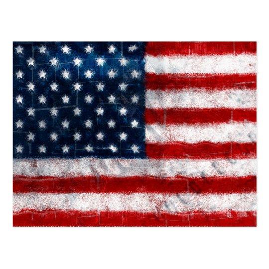 American Flag Portrait Postcard