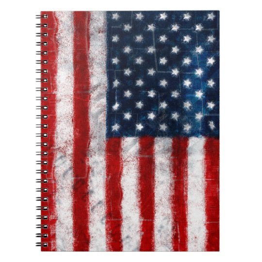 American Flag Portrait  Spiral notebook