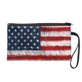 American Flag Portrait Wristlet