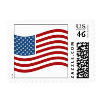 American Flag Postage Stamps stamp