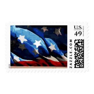 American Flag Postage Vector