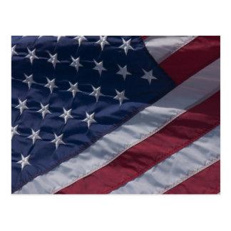 American flag. postcard