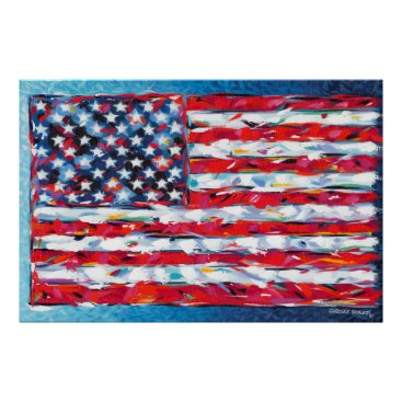 USA Themed American Flag Poster