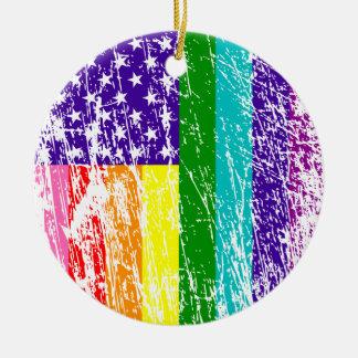 American Flag Pride Ceramic Ornament
