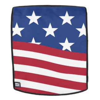 American flag print on Adult Backpack, Face Only Backpack