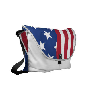 American flag print on Medium Messenger Bag