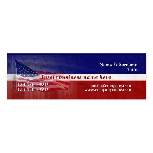 American flag business card templates page6 bizcardstudio american flag professional red white blue business card template colourmoves