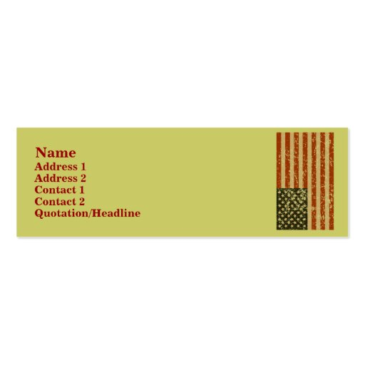 American Flag Profile Cards Double-Sided Mini Business Cards (Pack Of 20)