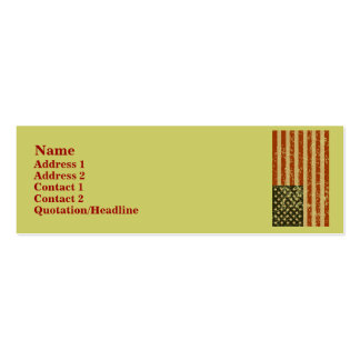 American Flag Profile Cards Business Card Template