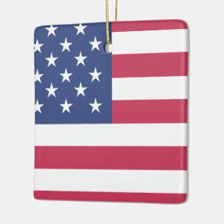 American Flag Proud Ceramic Ornament