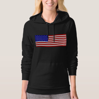 American Flag Pullover Hoodie for Women