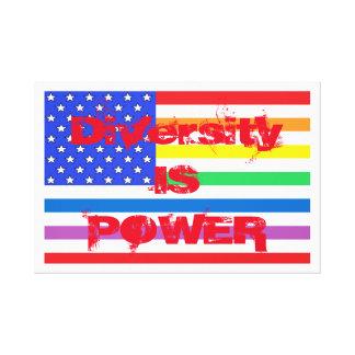 American Flag Rainbow Diversity USA CricketDiane Canvas Print