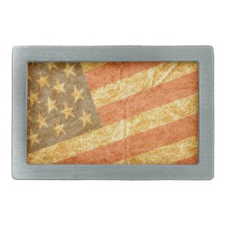 American Flag Rectangular Belt Buckle