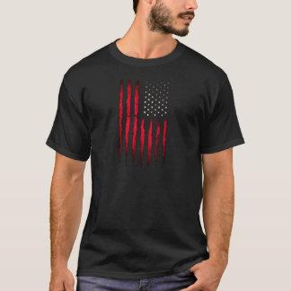 American flag Red Grunge T-Shirt