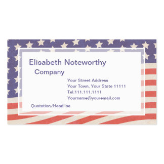 American Flag - Red White and Blue 4th of July Business Card