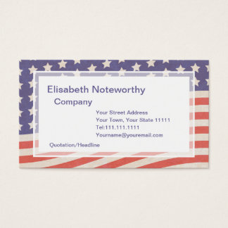 American Flag - Red, White and Blue 4th of July Business Card