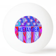 American Flag Red White And Blue Patriotic Custom Ping-Pong Ball