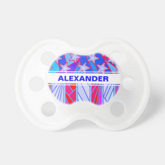 American Flag Red White And Blue USA Patriotic BooginHead Pacifier