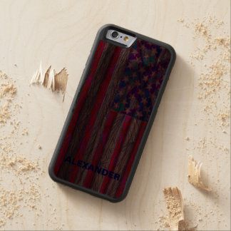 American Flag Red White And Blue USA Patriotic Walnut iPhone 6 Bumper Case